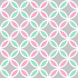 Cute seamless vector pattern with colorful petals vector illustration