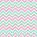 Cute seamless vector pattern with colorful zigzag stock illustration