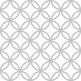 Cute seamless vector pattern with geometric petals stock illustration