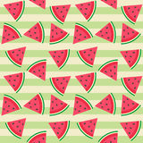 Cute seamless vector pattern with watermelon Royalty Free Stock Photography