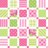 Cute seamless vintage pattern as patchwork in shabby chic style ideal for kitchen textile or bed linen fabrics. Curtains, carpets, tablecloth, wallpaper design stock illustration