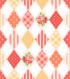 Cute seamless vintage pattern as patchwork in shabby chic style ideal for kitchen textile or bed linen fabrics Royalty Free Stock Photography