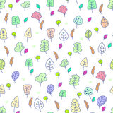 Cute seamless wallpaper. With leafs Royalty Free Stock Image