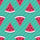 Cute seamless watermelon pattern Stock Image