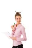 Cute secretary Stock Images