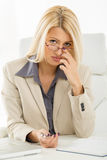 Cute Secretary Royalty Free Stock Photos