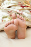 Cute seeping feet Stock Photos