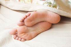 Cute seeping feet Stock Images
