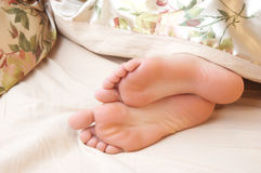 Cute seeping feet Royalty Free Stock Images