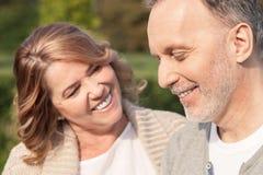 Cute senior loving couple is enjoying their life Royalty Free Stock Image