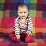 Cute serious boy portrait Stock Photo