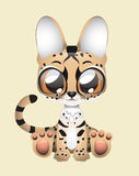 Cute serval vector illustration art Stock Image