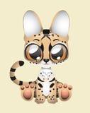 Cute serval vector illustration art. Illustration of a cute serval Stock Image