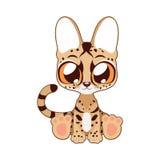Cute serval vector illustration art Royalty Free Stock Photo