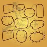 Cute set of blank bubble speech design illustration. Balon dialog illustration for conversation Stock Images