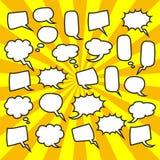 Cute set of blank bubble speech design illustration. Balon dialog illustration for conversation Stock Photography