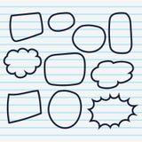 Cute set of blank bubble speech design illustration. Balon dialog illustration for conversation Stock Photo