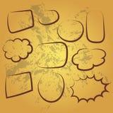 Cute set of blank bubble speech design illustration. Balon dialog illustration for conversation Royalty Free Stock Photos