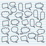 Cute set of blank bubble speech design illustration. Balon dialog illustration for conversation Royalty Free Stock Image