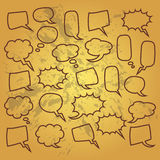 Cute set of blank bubble speech design illustration. Balon dialog illustration for conversation Stock Photos