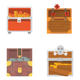 Cute set of different chests. Cartoon illustration chest. Safe money vector. Cute set of different chests. Cartoon illustration chest. Safe money vector illustration