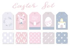Cute set for easter design. Happy Easter Day. Easter design elements. Vector collection of cute set for easter design. Happy Easter Day. Easter design elements Royalty Free Stock Image