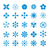 Cute set icon Flower isolated design Vector Stock Images