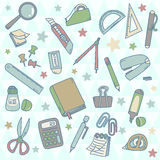 Cute Set of Stationery Stock Photos