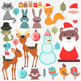 Cute set of various elements Christmas theme Royalty Free Stock Photos