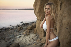 Cute sexy blond woman Royalty Free Stock Image