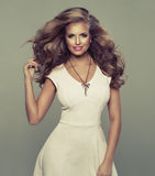 Cute sexy blond woman Royalty Free Stock Photos