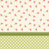 Cute shabby chic floral background for your decoration. Can be used as banner, card, invitation etc Stock Images