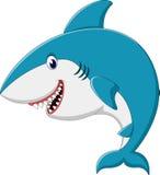 Cute shark cartoon Royalty Free Stock Images