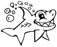 Cute shark coloring pages Royalty Free Stock Photography
