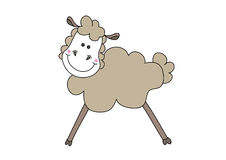 Cute sheep. Illustration of cute sheep, isolated on white Stock Image
