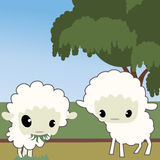 Cute sheep Stock Images
