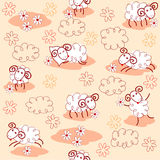 Cute sheep. Seamless pattern with cute sheep Royalty Free Stock Image