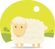 Cute Sheep. Illustration Cartoon of Cute Sheep Stock Photo