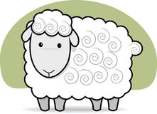Cute Sheep. Cute Cheep in Black and White Royalty Free Stock Photo