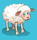 Cute sheep on blue Royalty Free Stock Photos