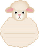 Cute sheep card tag label Royalty Free Stock Photo