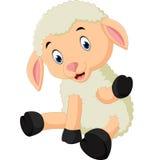 Cute sheep cartoon Stock Images