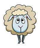 Cute sheep cartoon. Illustration of cute sheep cartoon Royalty Free Stock Photo