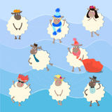 Cute sheep characters Stock Image