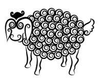 Cute sheep decorative Royalty Free Stock Image