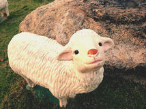 A cute sheep doll. He's very cute sheep doll Royalty Free Stock Images