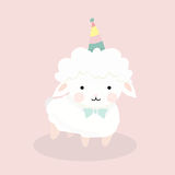Cute sheep in flat style. Royalty Free Stock Photo
