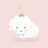 Cute sheep in flat style. Stock Image
