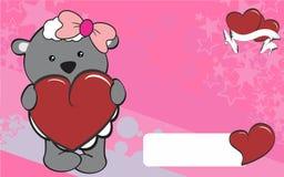 Cute sheep girl cartoon valentine backgorund Stock Photo