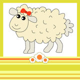 Cute Sheep girl Royalty Free Stock Images